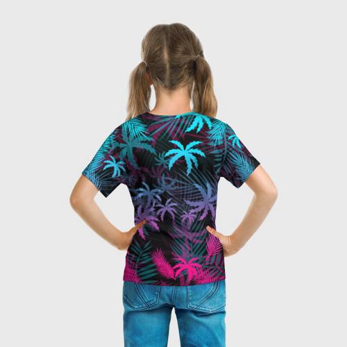 Детская футболка 3D НЕОНОВЫЕ ПАЛЬМЫ   NEON PALMS Фото 01