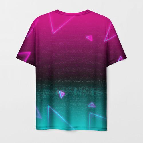 "3D футболка ""RETRO CYBER BEAR NEON"" фото 1"