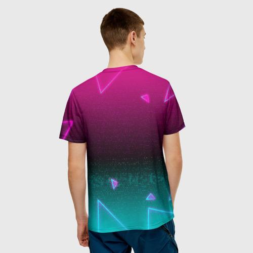 "3D футболка ""RETRO CYBER BEAR NEON"" фото 3"