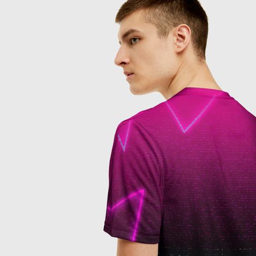 "3D футболка ""RETRO CYBER BEAR NEON"" фото 4"