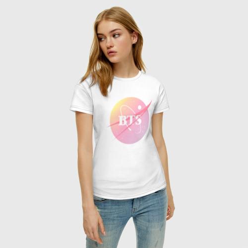Женская футболка хлопок BTS Фото 01