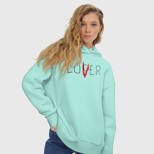 Женское худи Oversize хлопок Lover Фото 01