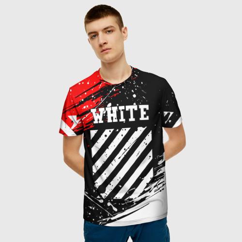 Мужская футболка 3D OFF-WHITE | ОФФ-ВАЙТ  Фото 01