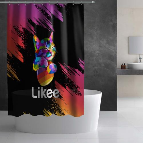 Штора 3D для ванной Likee (LIKE Video) Фото 01