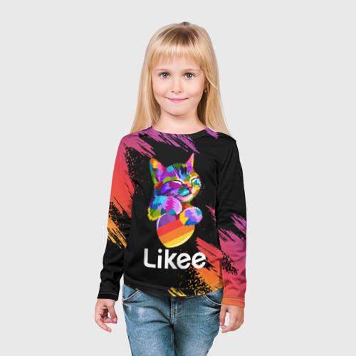 Детский лонгслив 3D Likee (LIKE Video) Фото 01
