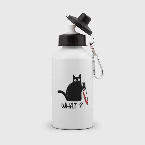 Бутылка спортивная What cat Фото 01
