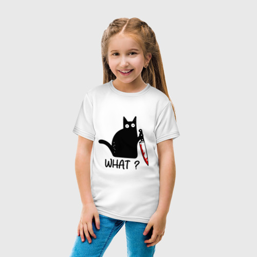 Детская футболка хлопок What cat Фото 01