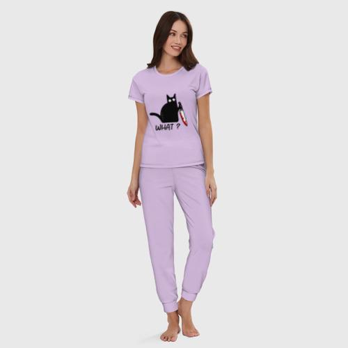 Женская пижама хлопок What cat Фото 01