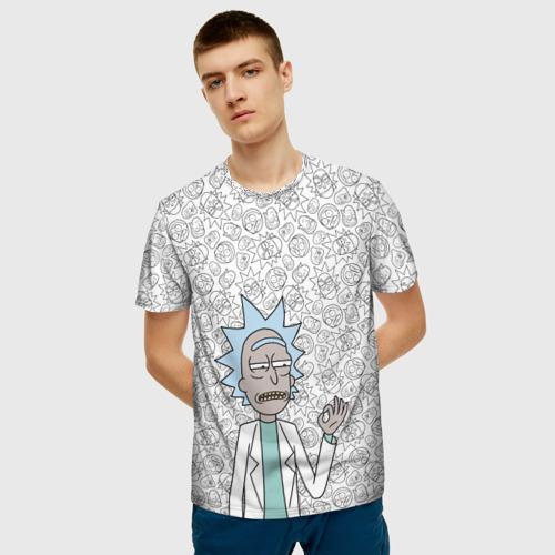 Мужская футболка 3D Rick Sanchez ok Фото 01