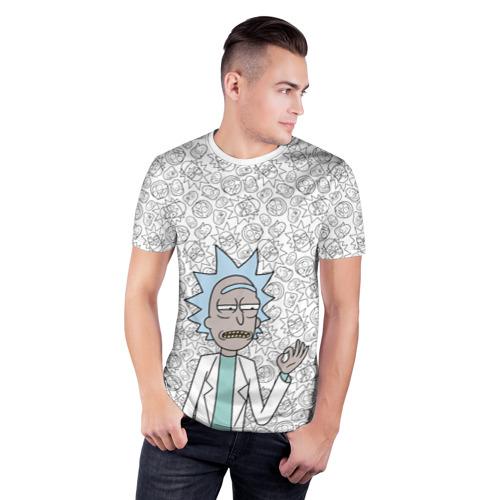 Мужская футболка 3D спортивная Rick Sanchez ok Фото 01
