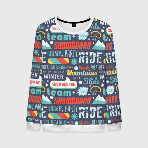 Snowboard, ride, winter
