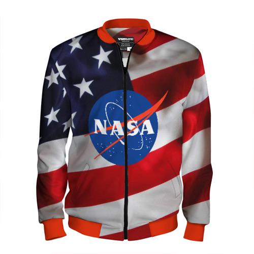 Мужской бомбер 3D NASA USA XL фото