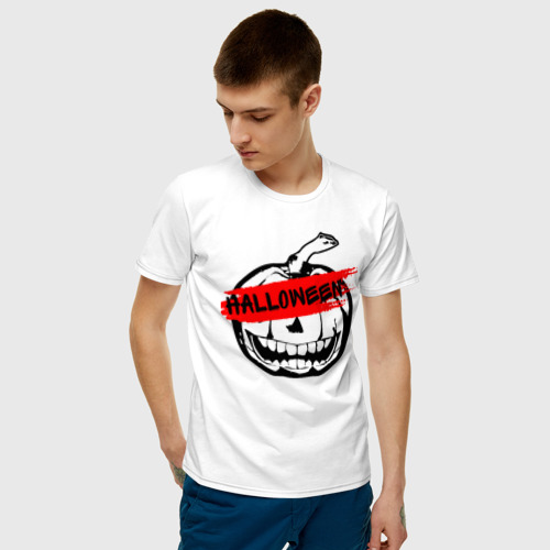 Мужская футболка хлопок Halloween party Фото 01