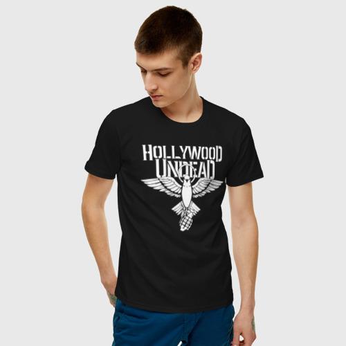 Мужская футболка хлопок HOLLYWOOD UNDEAD за  1125 рублей в интернет магазине Принт виды с разных сторон