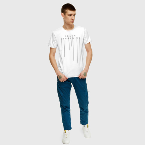 Мужская футболка хлопок DEATH STRANDING за  920 рублей в интернет магазине Принт виды с разных сторон