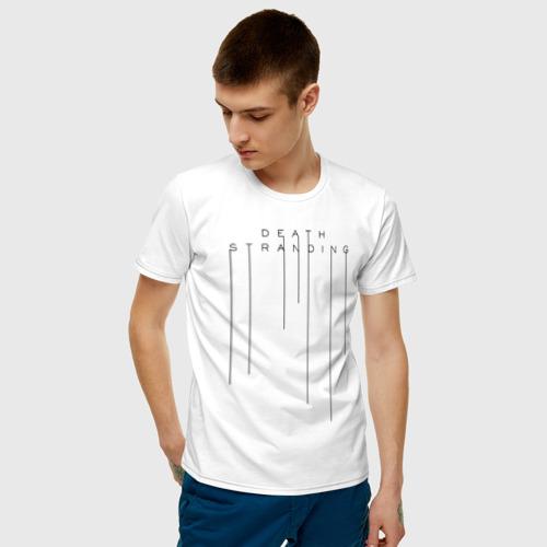 Мужская футболка хлопок DEATH STRANDING за  990 рублей в интернет магазине Принт виды с разных сторон