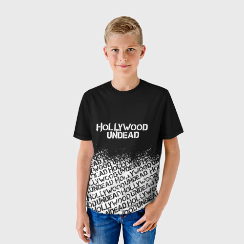 Детская футболка 3D HOLLYWOOD UNDEAD за  1025 рублей в интернет магазине Принт виды с разных сторон