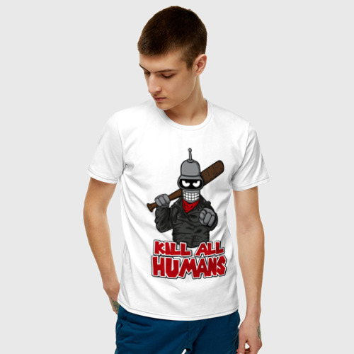 Мужская футболка хлопок The Walking Bot Фото 01