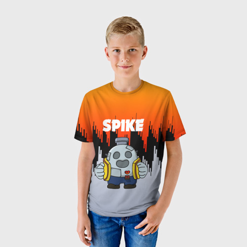 Детская футболка 3D Brawl Stars Spike Robot Фото 01