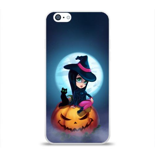 Чехол для Apple iPhone 6 силиконовый глянцевый Ведьмочка Фото 01