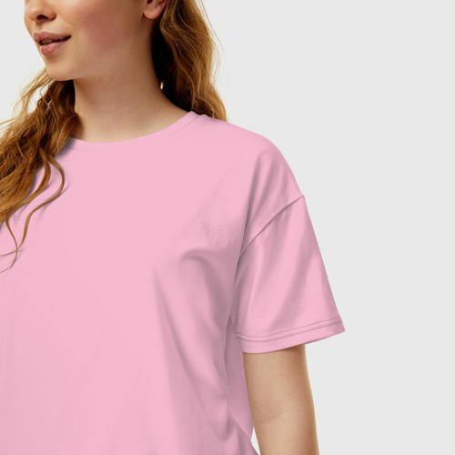 Женская футболка хлопок Oversize Без дизайна Фото 01