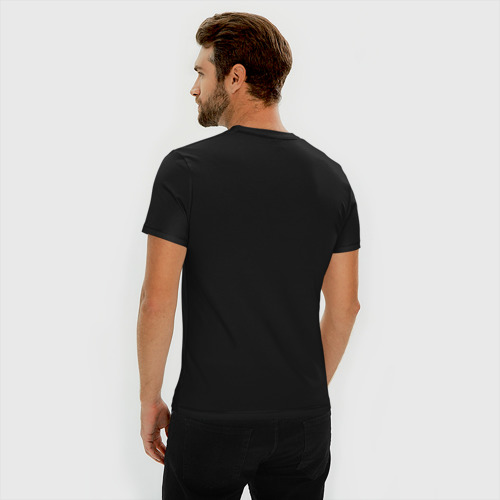 Мужская футболка хлопок Slim Без дизайна Фото 01