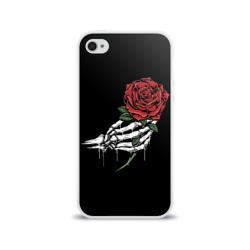 Рука скелета с розой
