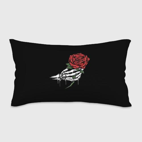 Подушка 3D антистресс Рука скелета с розой Фото 01