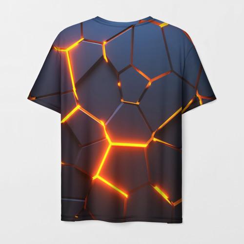 Мужская футболка 3D 3D ПЛИТЫ | NEON STEEL | НЕОНОВЫЕ ПЛИТЫ Фото 01