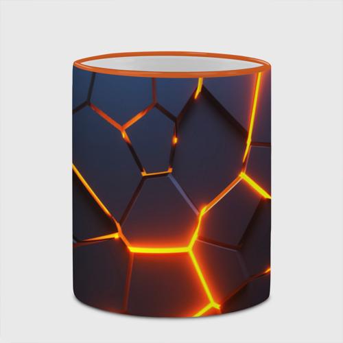 Кружка с полной запечаткой 3D ПЛИТЫ   NEON STEEL   НЕОНОВЫЕ ПЛИТЫ   РАЗЛОМ Фото 01