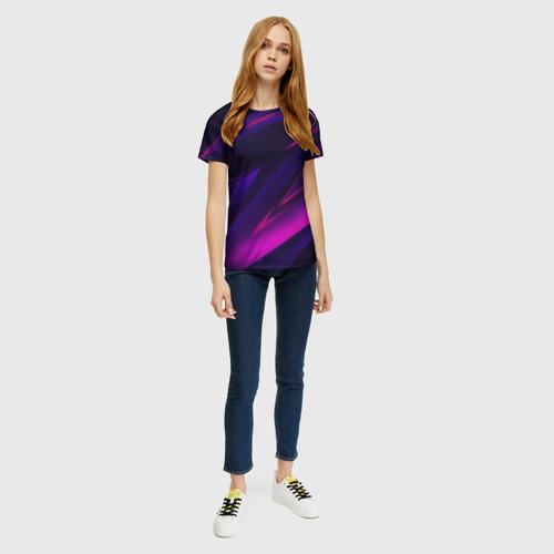 Женская футболка 3D GEOMETRY STRIPES NEON Фото 01
