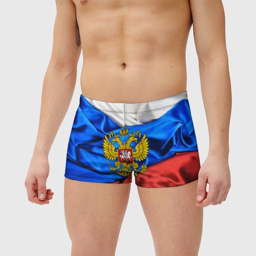 Мужские купальные плавки 3D РОССИЯ Фото 01
