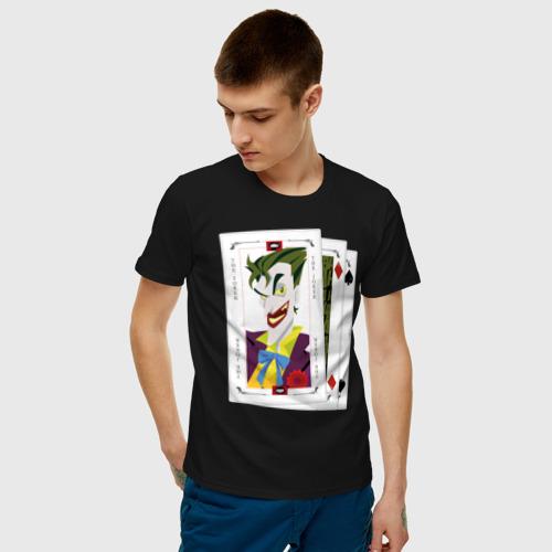 Мужская футболка хлопок  Joker cards Фото 01