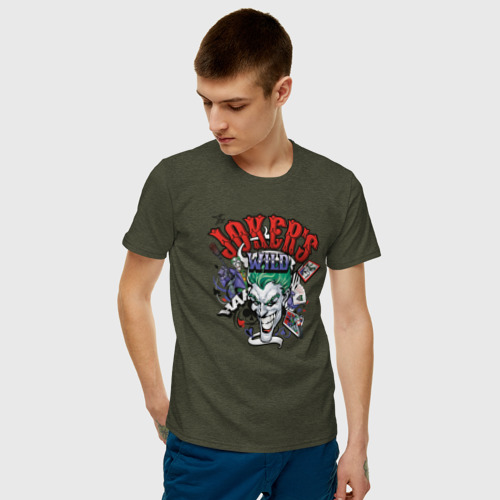 Мужская футболка хлопок The Joker wild Фото 01