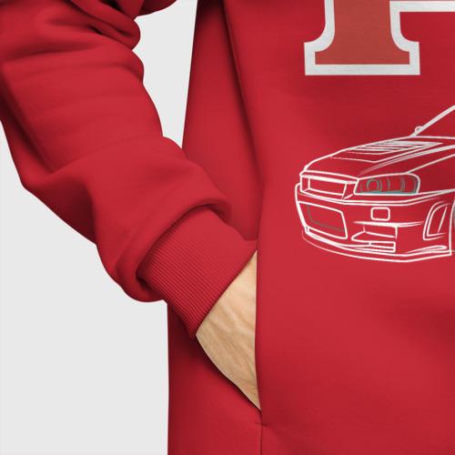 Мужское худи Oversize хлопок Nissan Skyline GTR R34 Фото 01