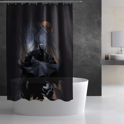 Штора 3D для ванной Batman Фото 01