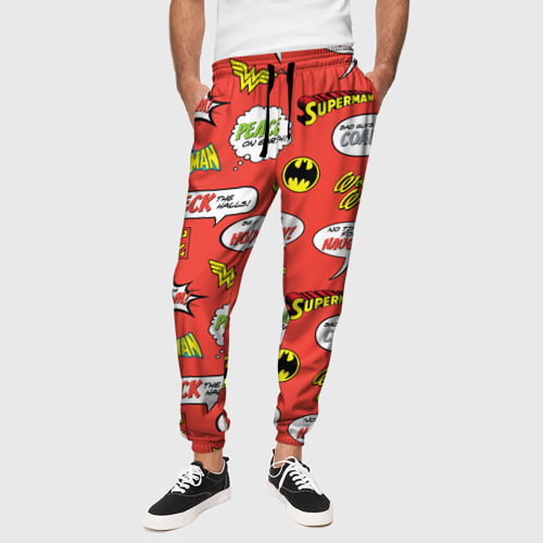 Мужские брюки 3D DC comics logos Фото 01