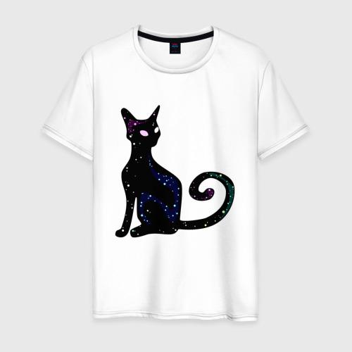 Мужская футболка хлопок Космическая кошка Фото 01