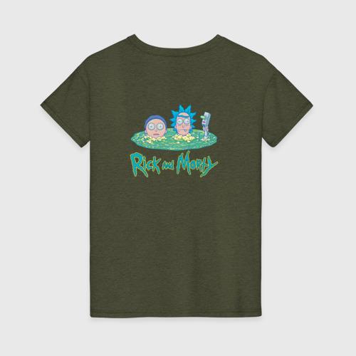 Женская футболка хлопок Рик и Морти Портал Фото 01