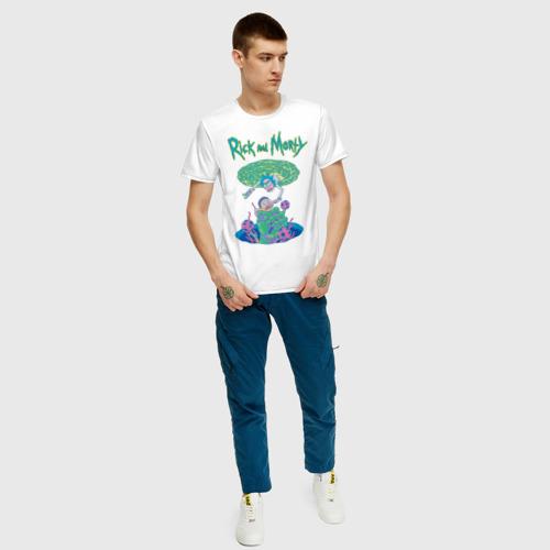 Мужская футболка хлопок Рик и Морти Портал Фото 01
