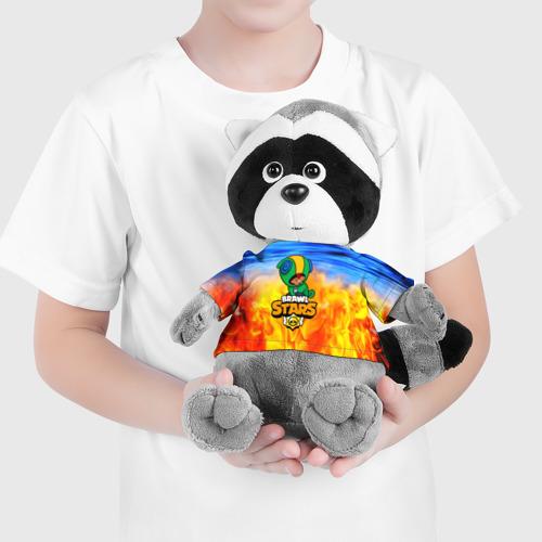 Игрушка Енотик в футболке 3D BRAWL STARS LEON Фото 01
