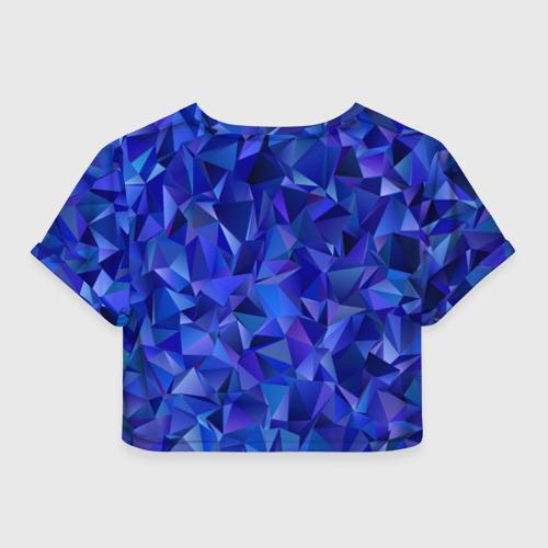 Женская футболка Crop-top 3D НЕОНОВЫЕ КРИСТАЛЫ Фото 01