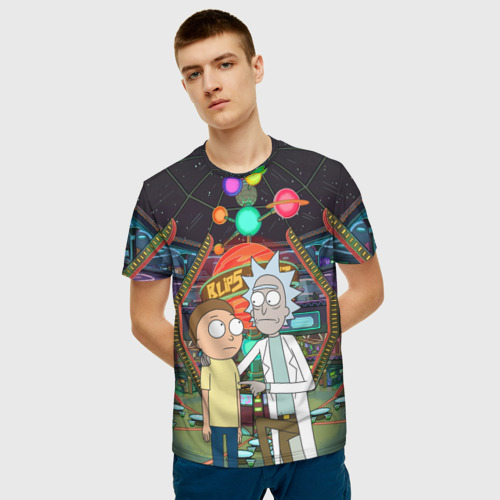 Мужская футболка 3D Rick and Morty in Blips Фото 01