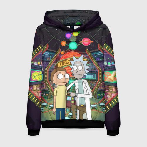 Мужская толстовка 3D Rick and Morty in Blips Фото 01