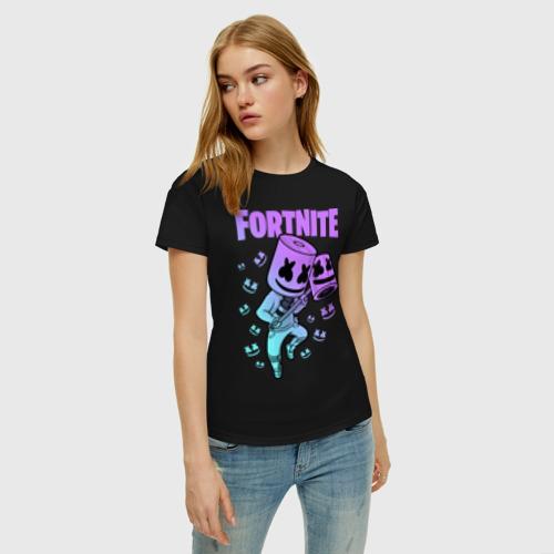 Женская футболка хлопок FORTNITE MARSHMELLO Фото 01