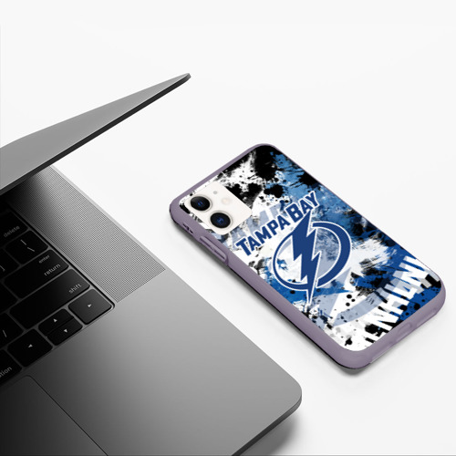 Чехол для iPhone 11 матовый Тампа-Бэй Лайтнинг Фото 01