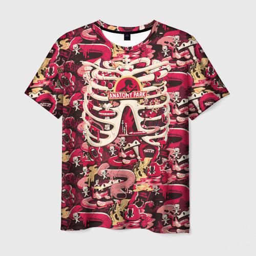 Мужская футболка 3D Anatomy Park Фото 01