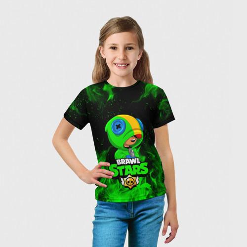 Детская футболка 3D BRAWL STARS LEON   ЛЕОН Фото 01