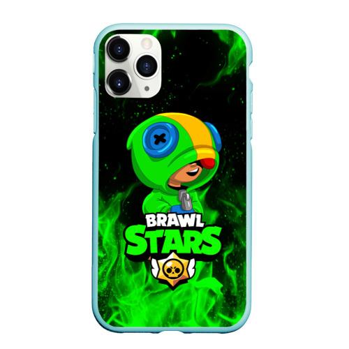 Чехол для iPhone 11 Pro Max матовый BRAWL STARS LEON | ЛЕОН Фото 01