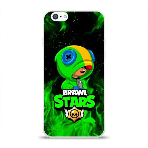 Чехол для iPhone 6/6S глянцевый BRAWL STARS LEON Фото 01
